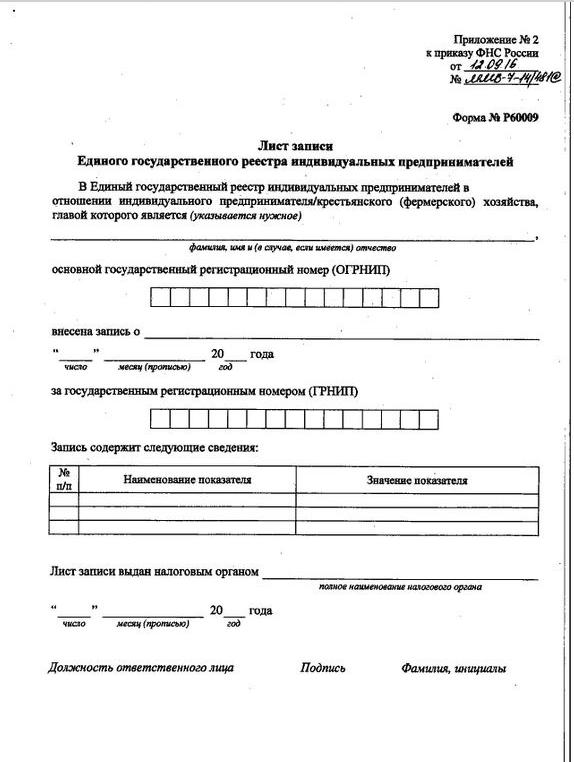 Пример свидетельства о постановке на учет ИП в налоговом органе: что это такое