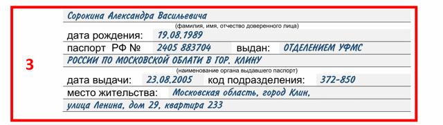 Пример доверенности для получения товаров ИП физ.лицом: образец бланка